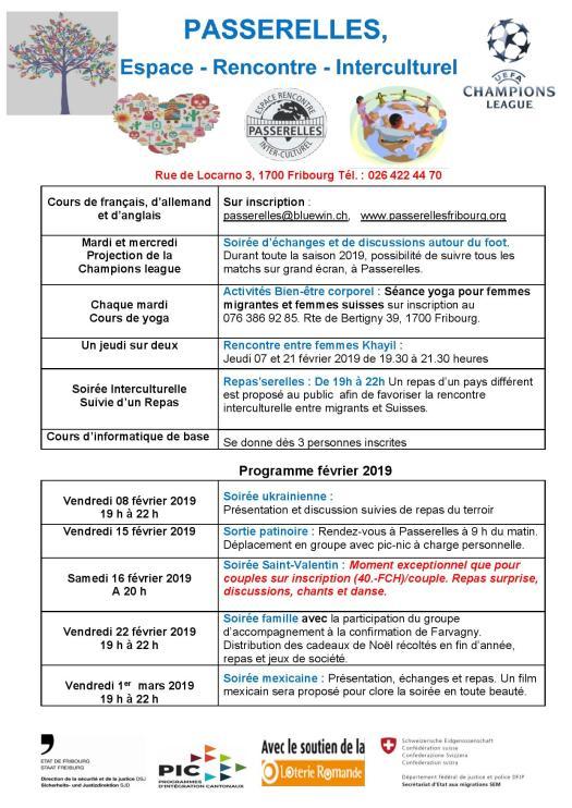 programme février 2019